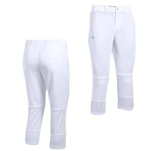 UA Women Softball Pants White (Small, XL)